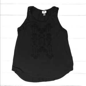 Old Navy gray tank top with design
